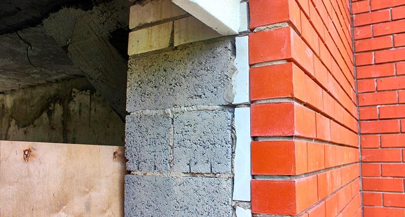 Пирог стены из керамзитоблоков