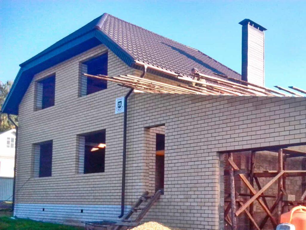 Пример дома из блоков