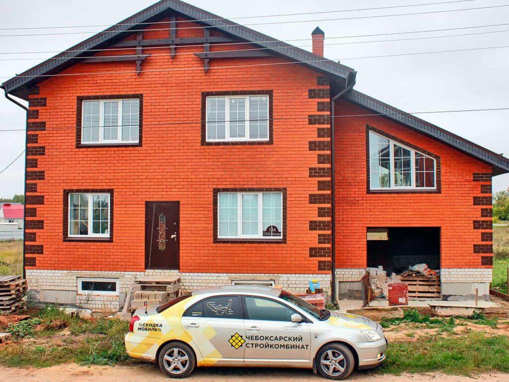 Дом, построенный из блоков в Арзамасе