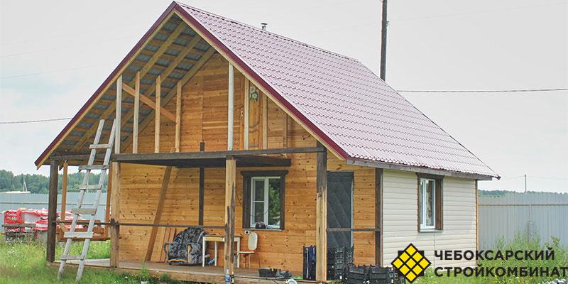 Отделка крыши бани