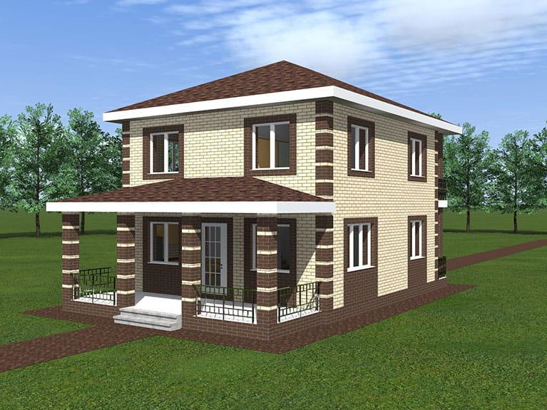 Проект дома на 160 квадратных метров