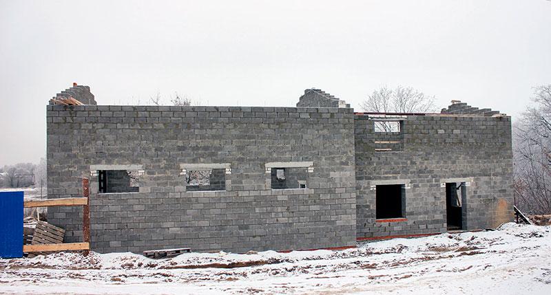 Строительство из керамзитобетонных блоков
